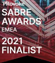 SABRE AWARDS EMEA 2021 FINALIST